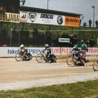 Odlika Mateja Ferjana - dober start (Tomažič - iz zbornika ob petdeseti obletnici speedwaya v Ljubljani)