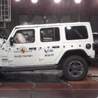 Jeep wrangler - le ena dosežena zvezdica