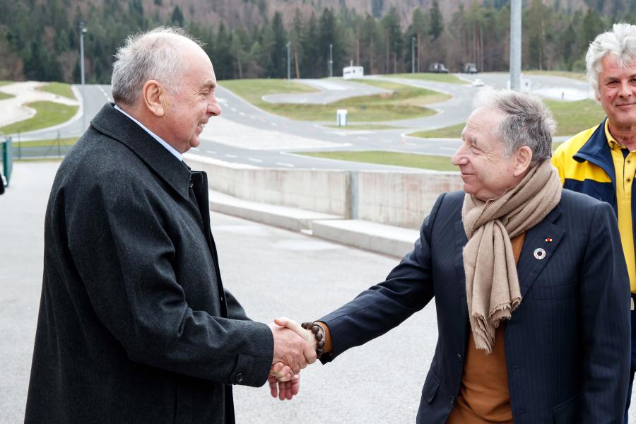 Predsednik FIA Jean Todt in predsednik Avto-moto zveze Slovenije Anton Breznik
