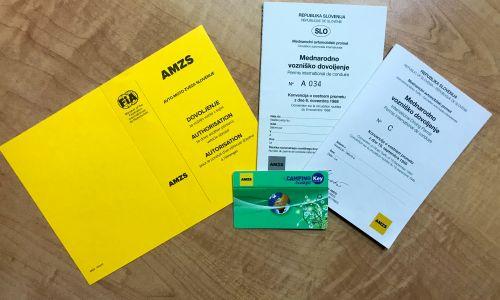 AMZS izdaja tudi mednarodno vozniško dovoljenje z veljavnostjo enega leta