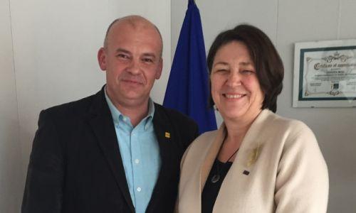 Generalni sekretar AMZS se je srečal z evropsko komisarko Violeto Bulc
