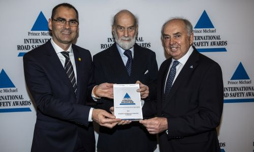 Avto-moto zvezi Slovenije prestižna nagrada Prince Michael International Road Safety Award