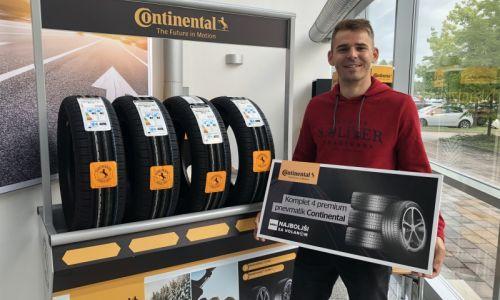 Nagrajenec prevzel Continentalove pnevmatike