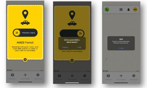 AMZS aplikacija z novo funkcionalnostjo