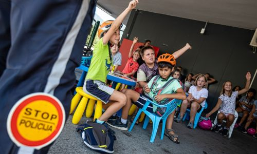 Mala šola prometa v AMZS Centru varne vožnje na Vranskem