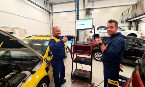Ekipa AMZS na tekmovanju mehanikov v Luksemburgu