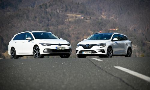 Primerjamo: Volkswagen golf variant style 2,0 TDI in renault megane grandtour e-tech edition one