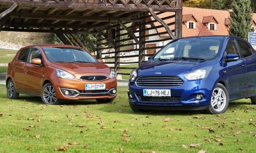 Test: Ford ka+ 1.2 Ti VCT trend in mitsubishi space star 1.2 intense