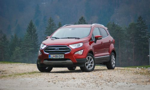 Kratek test: Ford ecosport 1,5 ecoblue titanium AWD