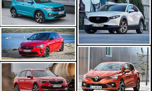 Slovenski avto leta 2020: v finale dva majhna avta in trije križanci