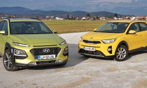 Primerjamo: Hyundai kona 1.6 T-GDI 4WD in kia stonic 1.25 MPI EX