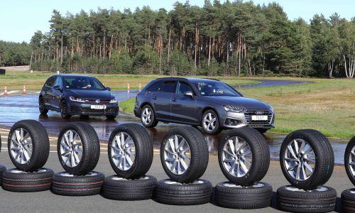 AMZS test 32 letnih pnevmatik dimenzij 205/55 R 16 in 225/50 R 17