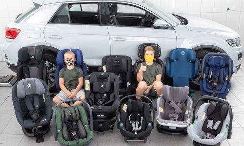 AMZS test 18 otroških varnostnih sedežev