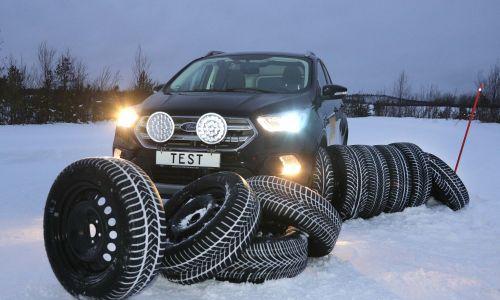 AMZS test 28 zimskih pnevmatik dveh dimenzij: 205/55 R 16 in 235/55 R 17