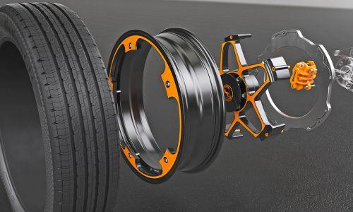 """Continentalov prototip avtomobilskega kolesa z """"večnim"""" zavornim diskom"""