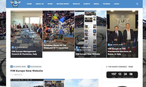 Nova spletna stran FIM Europe