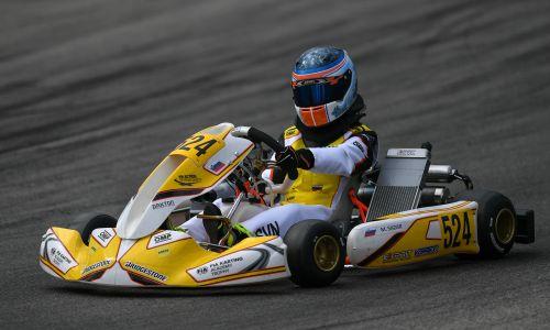 Kartista Martin Mihič  in Mai Sadar na evropskem prvenstvu razredov KZ/KZ2 in FIA Academy Trophy
