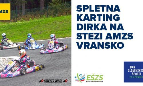 Ob Dnevu slovenskega športa spletna karting dirka na stezi AMZS Vransko