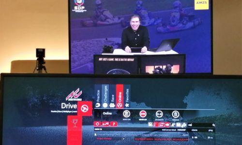 Virtualna steza Euroringa prizorišče druge dirke državnega prvenstva v e-kartingu