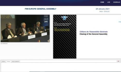 Virtualna generalna skupščina FIM Evropa