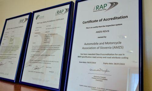 AMZS z novim certifikatom za ocenjevanje cest po postopkih programa EuroRAP